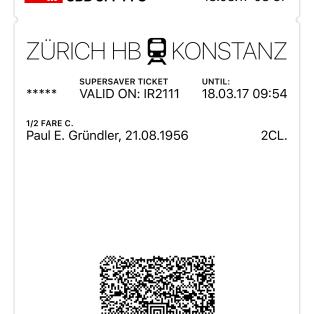 SBB Ticket