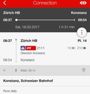 Unser Zug nach Konstanz