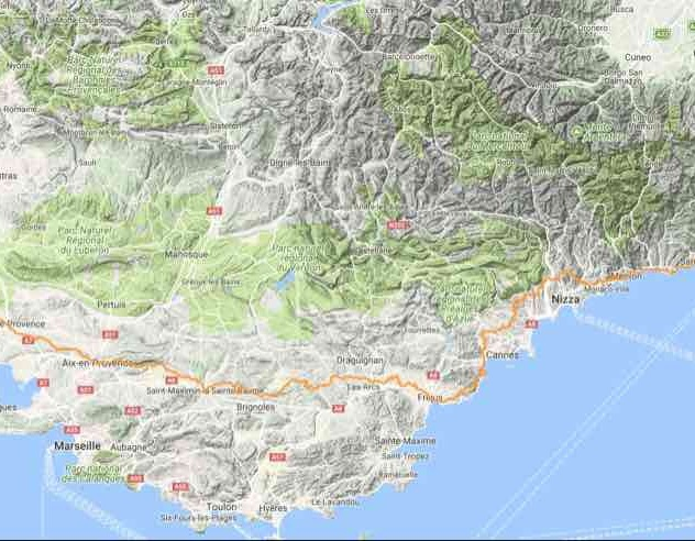Via della Costa / Via Aurelia Genua – Arles Via Tolosana Arles – Montpellier