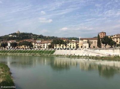Verona / Veneto / Fiume Adige / Italy - 4/18/19