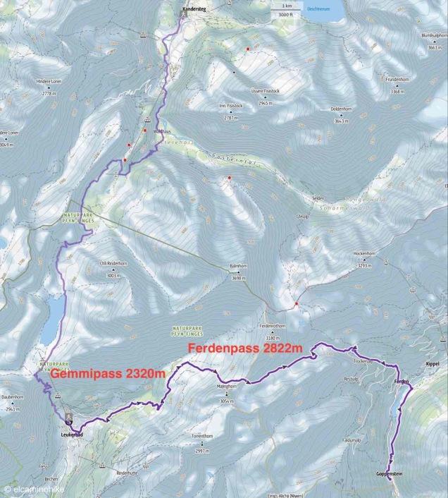 Route Gemmipass Ferdenpass